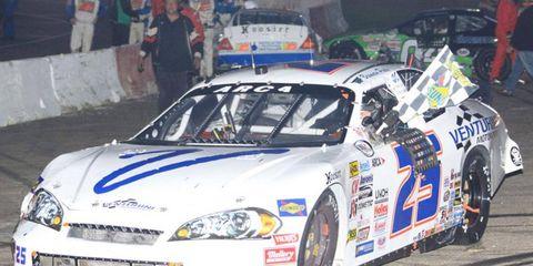 Brennan Poole drove a Venturini Motorsports entry to the ARCA win in Minnesota on Saturday.