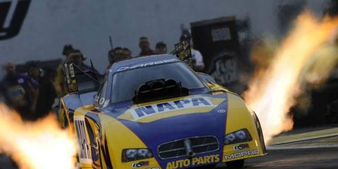 Ron Capps grabbed his first No. 1 qualifying spot for Funny Cars on Saturday and in the process set an NHRA record of fastest run.
