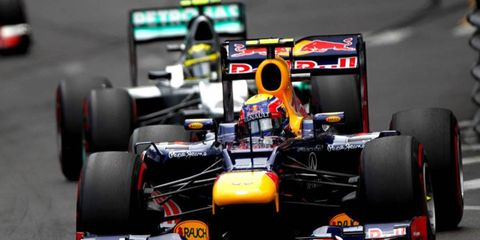The FIA has ruled that holes in front of the RB8's rear wheels are not allowed going forward.