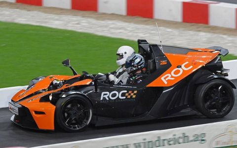 USA's Carl Edwards in the KTM X-Bow.