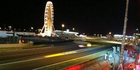 Circuit de la Sarthe at night.