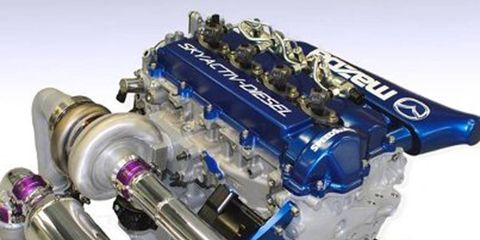 Although Mazda isn't represented at Le Mans, the company will be back next year. They will showcase their Skyactiv-D clean diesel engine to LMP 2 teams.