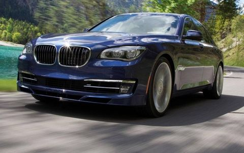 A front view of the 2013 BMW Alpina B7.