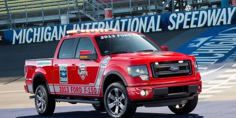 A Ford vehicle will be leading the Sprint Cup Series cars at Michigan for the third consecutive June.