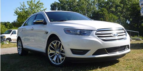 The 2013 Ford Taurus is rated at 240 hp and 270 lb-ft of torque. It gets 32 mpg on the highway.