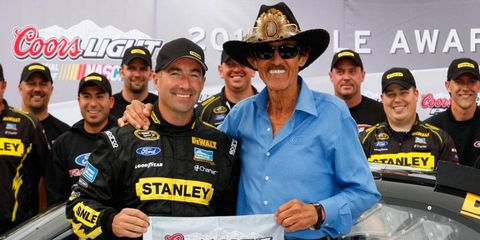 No one could catch Marcos Ambrose in qualifying for the second consecutive week for car owner Richard Petty.