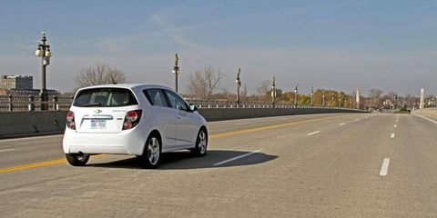 According to Chevrolet, 20 percent of Sonics sold are equipped with a manual transmission.
