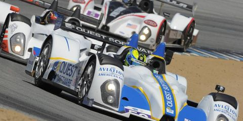 Ken Dobson and Butch Leitzinger piloted the No. 52 Quest Software/Aviation Gin Oreca FLM09 around Mazda Raceway Laguna Seca in May. ALMS is making a commitment to study alternative fuels, natural gas in particular.