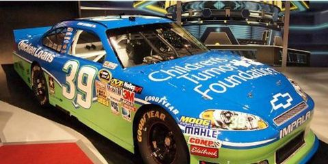 """Ryan Newman will be driving a special """"Children's Tumor Foundation"""" car this Sunday in Sonoma in honor of the """"Fuel the Cure"""" program."""