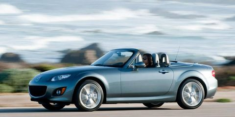 With its well-sorted chassis, communicative suspension and solid construction, the 2012 Mazda MX-5 Miata PRHT roadster is a riot to drive.