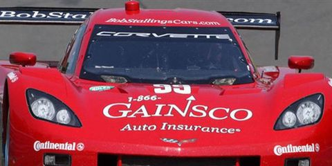 Alex Gurney led the way in the Grand-Am Rolex Sports Car Series' debut at Indianapolis Motor Speedway.