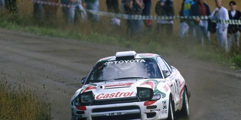 A Toyota races around during the Finland Rally in 1993. The manufacturer said it is ready to make a return to the series after a long hiatus.