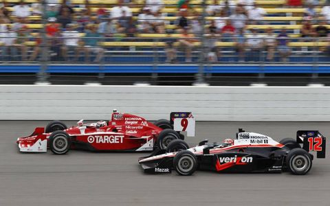 Scott Dixon and Will Power on June 20 in Newton, Iowa.
