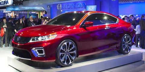 HondaLink debuts with the redesigned Honda Accord. The Accord coupe concept is shown.