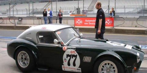 Bill Shepherd's 1963 Shelby Cobra 289 before he competed in the AvD Old Timer Grand Prix.