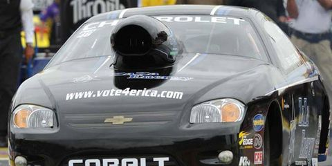 Erica Enders recently became the first woman to win a Pro Stock event in NHRA action.