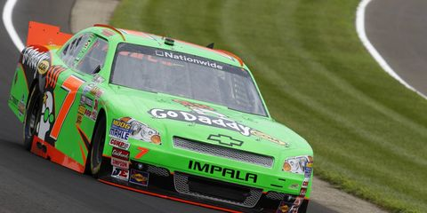 Danica Patrick's much ballyhooed return to Indianapolis didn't end how she had hoped. The NASCAR Nationwide rookie crashed on lap 38.
