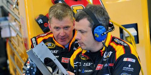 Todd Berrier, right, worked with Jeff Burton earlier this year in the Sprint Cup Series.