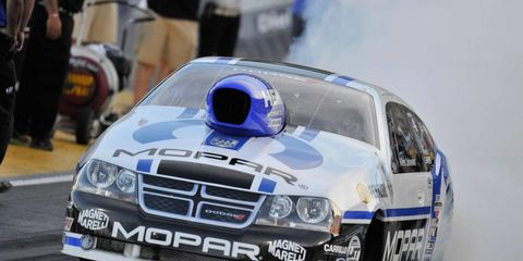 Allen Johnson earned the top qualifying spot in Pro Stock at the Mile-High NHRA Nationals.
