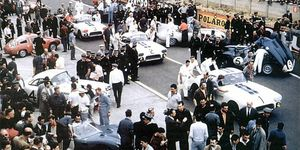 The three 1960 Corvettes entered by Briggs Cunningham at Le Mans.
