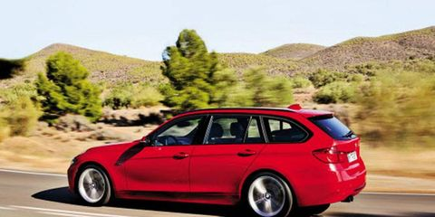 The 328i Sports Wagon is bigger, so the 2013 model is more spacious and more practical than its predecessor.