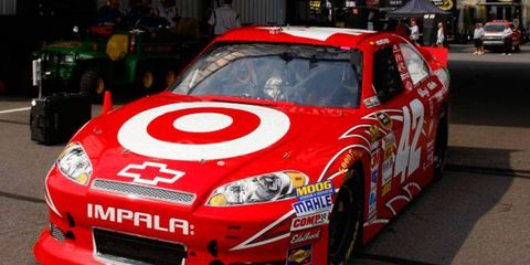 Juan Pablo Montoya, still seeking his first Sprint Cup Series win in 2012, will start from the pole at Pocono on Sunday.