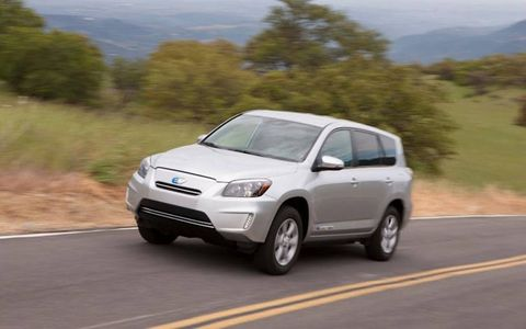 With a generous 129-kilowatt battery, the new RAV4 EV has a range conservatively rated at 100 miles.
