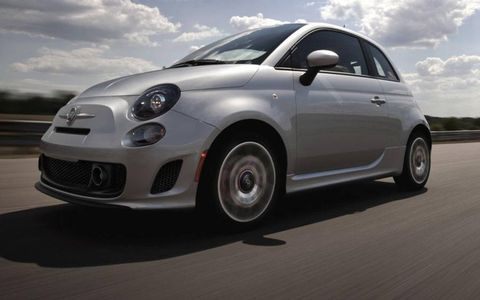 The 2013 Fiat 500 Turbo slots between the base car and the Abarth version.