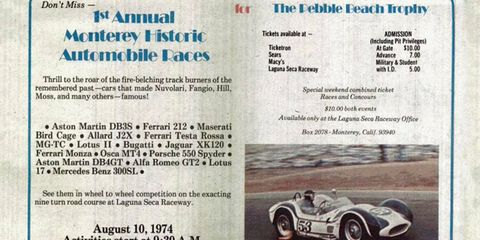 The Monterey Historic Automobile Races, an event now known as the Rolex Monterey Motorsports Reunion, began in 1974. <i>Autoweek</i> was there.