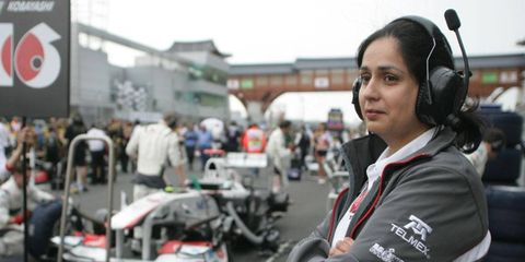 Monisha Kaltenborn is not only the CEO of the Sauber Formula One race team, but she is also a one-third shareholder in the company.