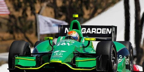 Rookie Josef Newgarden will miss this week's race in Baltimore after surgery to repair a broken finger.