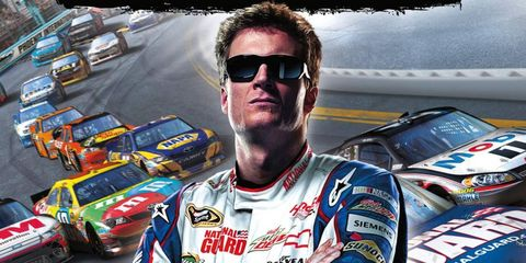 Dale Earnhardt Jr. narrowly beat out Kasey Kahne for the chance to be on the cover of the new video game, NASCAR The Game: Inside the Line. Fans were given the chance to vote via social media.