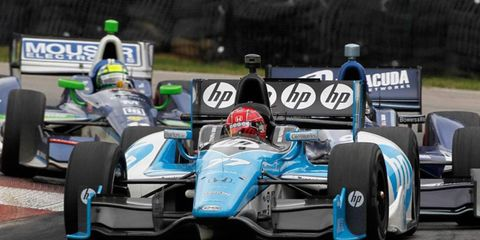 Simon Pagenaud was among the drivers critical of the push-to-pass boost system after its 2012 debut at Mid-Ohio.