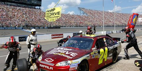 Jeff Gordon blasted teammate Dale Earnhardt Jr. during Sunday's NASCAR Sprint Cup Series race at Michigan.