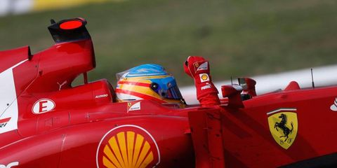 Fernando Alonso finished third at Monza on Sunday and left with a healthy lead in the championship points.