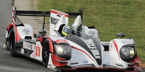 Klaus Graf and Lucas Luhr teamed for a three-lap victory in the four-hour race driving Muscle Milk's Honda Performance Development ARX-03a.