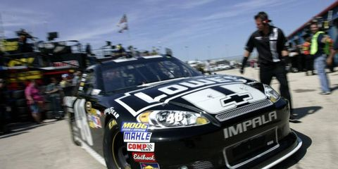 Jimmie Johnson started the Chase season with a bang, qualifying first for Chicago's Sprint Cup race.