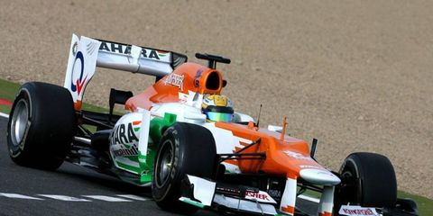 Luiz Razia was one of three drivers to take part in a Formula One Young Drivers test at Magny-Cours on Tuesday.