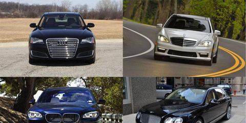 Bench racing the Audi A8, BMW 7-Series, Mercedes-Benz S-Class and Bentley Continental.