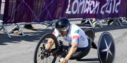 Alex Zanardi recently won three medals (two gold and one silver) in the London Paralympic games. The athlete was involved in an accident several years ago that left him a double amputee.