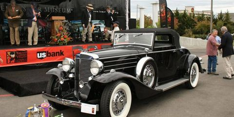 A 1933 Marmon V16 Convertible Coupe owned by Aaron Weiss was named Best in Show at the 10th Annual Kirkland Concours.