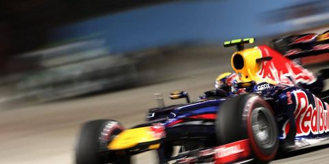 Mark Webber flies down the track at Singapore. Thailand is the latest country to make a bid for a Formula One race.