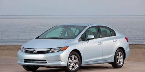 The 2012 Honda Civic Natural Gas sedan.