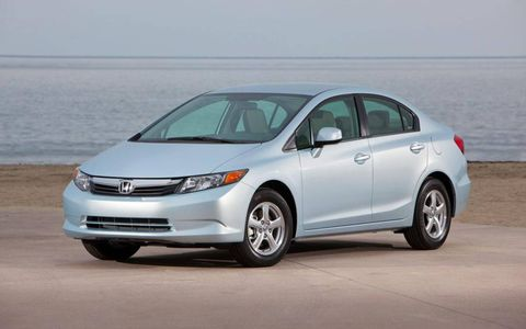 The 2012 Honda Civic Natural Gas sedan.