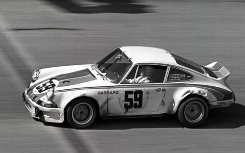 Peter Gregg and Hurley Haywood Daytona-winning Porsche Carrera in 1973.