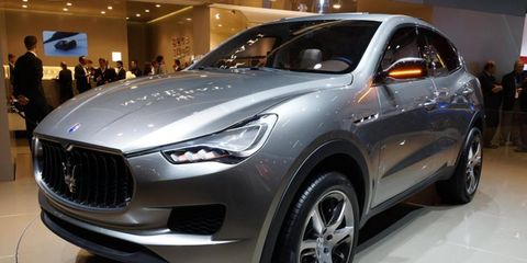 The Maserati Kubang concept, shown at the Paris Motor show, will become the Levante when it goes into production in 2014.