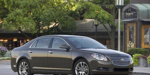 The 2008-2010 Chevy Malibu is one of three vehicles being recalled.