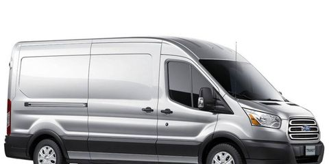 The full-size Ford Transit van will get a turbocharged five-cylinder diesel engine option when it hits the US market in late 2013.