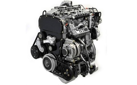 The turbocharged five-cylinder engine, which will wear Ford's Power Stroke name, is rated at 197 hp and 347 lb-ft of torque in Europe.