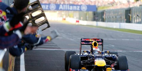 Sebastian Vettel won the pole and led Sunday's race from start to finish on a nearly perfect weekend for the Red Bull Racing driver.